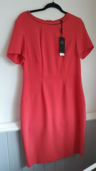 BNWT WOMENS NEXT TAILORING CORAL PINK DRESS SIZE 16