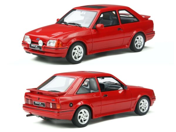 Piolenc,France1/18 ottomobile ford escort mk4 rs turbo red neuf  gratuite aout 2020