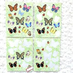 Butterfly Stickers Vintage Ladybug Red Colorful Hallmark 1989 Nature Beauty HTF