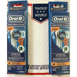 Kyпить 8 BRAUN ORAL B PRECISION CLEAN TOOTHBRUSH REPLACEMENT BRUSH HEADS EB20-4 на еВаy.соm