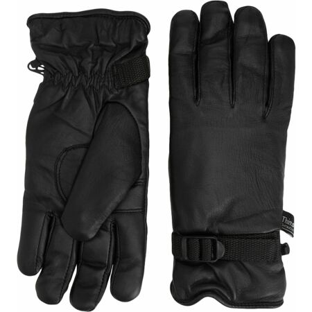 img-Black Leather Combat 95 Gloves Highlander Lined Military Style Gloves ~ Large