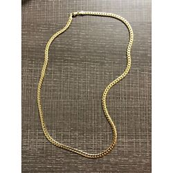 Kyпить Men's 14k Gold Stamped Cuban Link Chain 20 Inches
