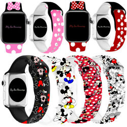 Kyпить Mickey Mouse Silicone Minnie  Band Strap For iWatch Apple Series 6 5 4 3 2 1 на еВаy.соm