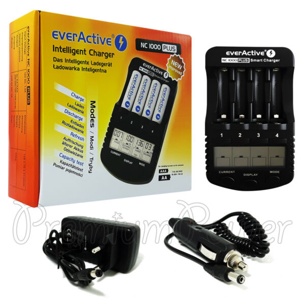 LituanieeverActive NC-1000  Chargeur Pour Aa AAA NI-MH ni-Cd Piles LCD Pro