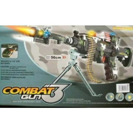 img-Combat 3 Army Commando Machine Gun Pistol With Lights And Sounds Kids Toy