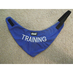 TRAINING Blue Color Coded Personalised Warning Scarf Hook and loop closure