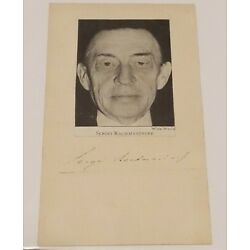 Kyпить Sergei Rachmaninoff Signed PSA DNA Autograph Classical Composer Auto Pianist на еВаy.соm