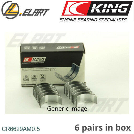 LituanieConRod BigEnd Bearings +0.5mm for CHRYSLER,LE BARON Convertible,VOYAGER II,6G72