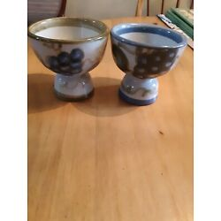 Kyпить PAIR Louisville Stoneware EGG Cups Grapes Olives  на еВаy.соm