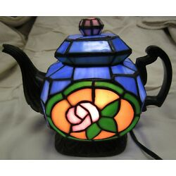 Kyпить Cheyenne Stained Glass Teapot Lamp на еВаy.соm