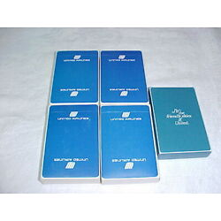 Kyпить  Vintage Playing Cards 5 Decks United Airlines New Sealed на еВаy.соm