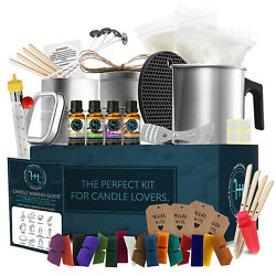 Kyпить Candle Making Kit, Soy Wax, 16 Color Dyes, Thermometer, Tins, Wicks, Melting Pot на еВаy.соm