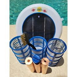 Kyпить Solar Pool Ionizer- LED UPGRADE - 3  Heavy 450g Anodes - 3 Baskets- Two Springs  на еВаy.соm