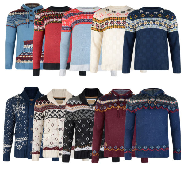 Royaume-UniRock & Revival Premium Hommes Pull Tricot Sweat Capuche Pull Cardigan