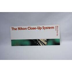 Kyпить The Nikon Close-Up System Extension Ring K PB-4 PS-4 PS-5 BR-2 Booklet Brochure на еВаy.соm