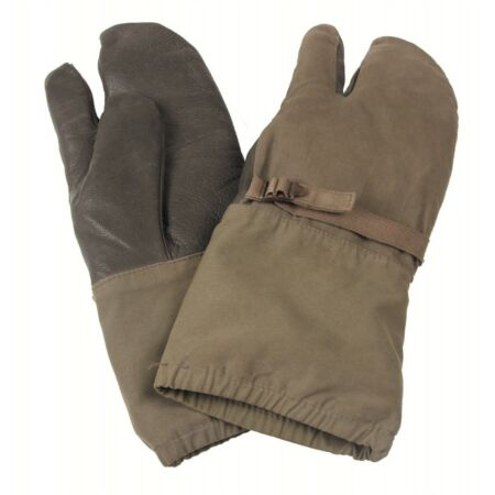 img-German Army BW Work Mitts With Liners Cotton Mittens With Leather Palm GRADE 1