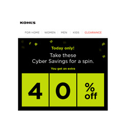 Kyпить KOHL'S 40% OFF Online Code Only Valid to 12/02 - No Kohls Charge Card Required  на еВаy.соm