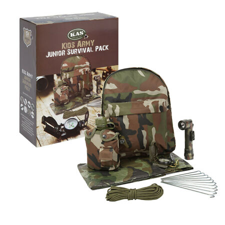 img-Kids Army Camouflage Junior Survival Pack - Den Making Kids Army Roleplay Kit