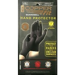Kyпить Copper Fit Guardwell Gloves Full Finger Hand Protection  L / XL NEW Factory Seal на еВаy.соm