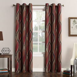 No. 918 Intersect Wave Print Casual Textured Curtain Panel