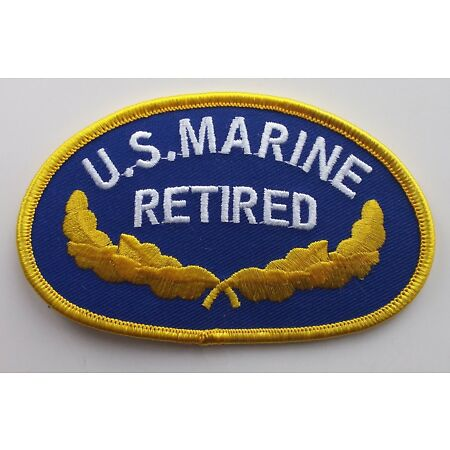 img-US MARINE CORPS RETIRED PATCH Badge United States America Military Veteran USMC