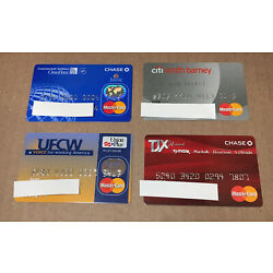 Kyпить 4 Expired Credit Cards For Collectors - Master Card Lot (9120) на еВаy.соm