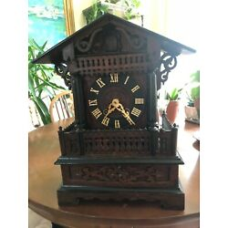 Kyпить Antique Shelf / Mantle Cuckoo Clock w/ Original Key на еВаy.соm
