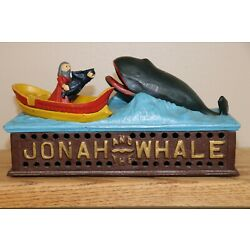Kyпить Vintage Jonah and Whale cast iron Book of Knowledge mechanical bank на еВаy.соm
