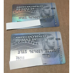 Kyпить 2 Expired Credit Cards For Collectors American Express Business  Platinum (9133) на еВаy.соm
