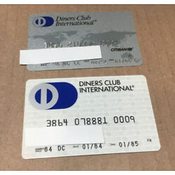 Kyпить 2 Expired Credit Cards For Collectors - Diners Club International (9135) на еВаy.соm