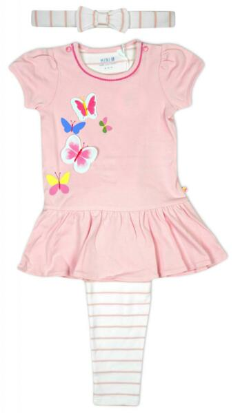 GroßbritannienBaby Bhs 3 Teile Schmetterling Top Leggings & Stirnband Sommer Set 3 Zu 6 Monate