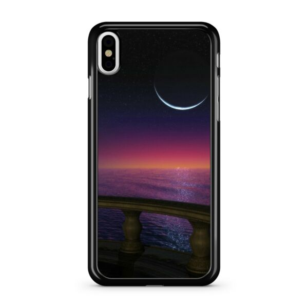 GroßbritannienMansion Balkon  Mond Magnificent Sunset Blau Ocean 2D Handyhülle Cover