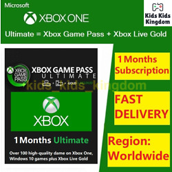 Xbox Live 1 Month Gold & Game Pass Ultimate Code (2x 14 Day) - FAST Dispatch