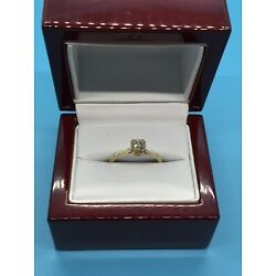 Kyпить 14K YELLOW GOLD ROUND DIAMOND SOLITAIRE ENGAGEMENT RING .50 CT на еВаy.соm