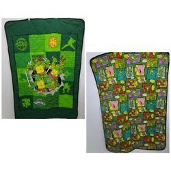 Kyпить Vintage TMNT Teenage Mutant Ninja Turtles Toddler Bed Blanket Green Retro Throw на еВаy.соm