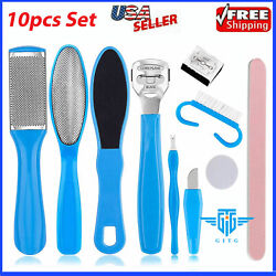 Kyпить 10pcs CALLUS Remover Pedicure Rasp Foot File Scraper Brush Nail Care Tool Set Ki на еВаy.соm