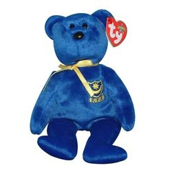 TY Beanie Baby POMPEY the BEAR - TY EUROPE UK EXCLUSIVE 8''...NEW