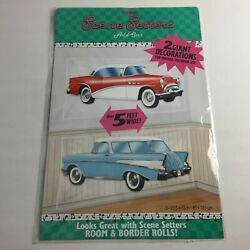 2 Giant Retro Car Wall Display Decal Decorations, 5ft, American Diner 50s Chevy