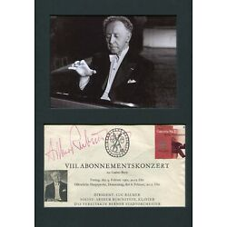 Kyпить Arthur Rubinstein PIANIST autograph, signed concert announcement mounted на еВаy.соm