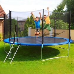 Kyпить 12Ft Kids Trampoline With Enclosure Net Jumping Mat And Spring Cover Padding US на еВаy.соm