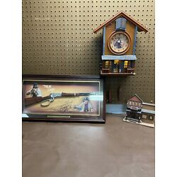 Kyпить John Wayne Legends Bradford Exchange Clock, True Grit Commemorative Rifle. на еВаy.соm