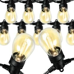 Kyпить 48 Feet LED Outdoor String Lights Commercial Hanging Lights UL Listed Warm White на еВаy.соm