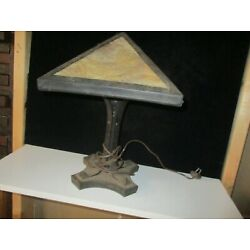 Kyпить VINTAGE MISSION STYLE SLAG LAMP - UNUSUAL STYLE - SMALL SIZED- ORIGINAL на еВаy.соm