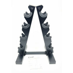 CAP Barbell Dumbbell Rack Storage Workout Heavy Duty Holds A-Frame Stand 4 Pairs