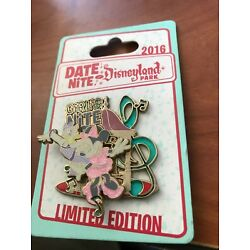 2016 DISNEY GIRLS DATE NITE OUT AT DISNEYLAND LIMITED EDITION MINNIE DAISY PIN