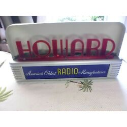 Kyпить EXTREMELY RARE VINTAGE ANTIQUE ART DECO HOWARD RADIO ADVERTISING LIGHT UP SIGN на еВаy.соm