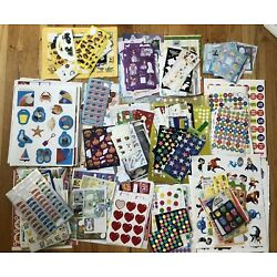 Kyпить Incentive Stickers - HUGE LOT - Not Complete Sheets - Teacher School Scrapbook на еВаy.соm