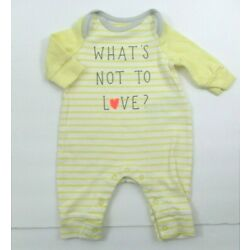 Kyпить GIRLS BOYS BABY GAP YELLOW STRPED WHAT'S NOT TO LOVE LONGALL OUTFIT PREEMIE NB на еВаy.соm