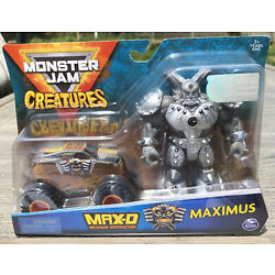 "Kyпить Spin Master Monster Jam 2020 Creatures 1/64 MAX-D & MAXIMUS 5"" Figure True Metal на еВаy.соm"