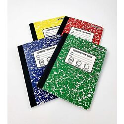 Unison Composition Notebook 6-pack - Wide Ruled - 80 pages - NEW